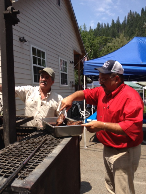 Jeff Carmichael and County Supervisor Paul Roen are the Chefs for the event
