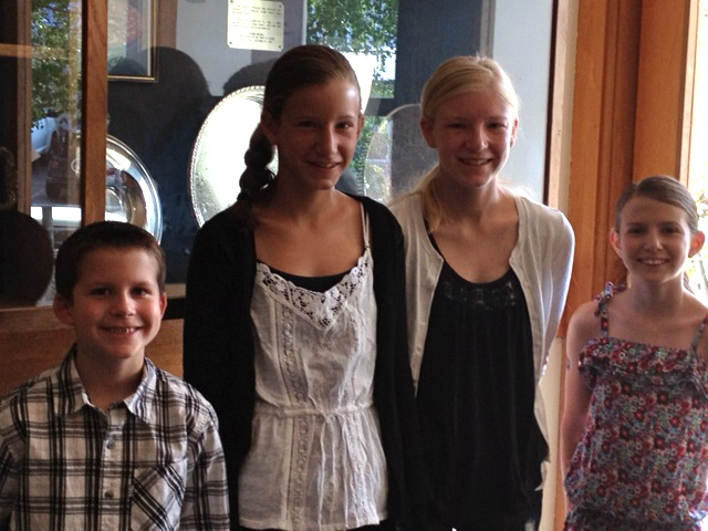 Tanner, Ellie, Emma and Mason proudly represent their grandfather David Marshall at the Gold Rush Park Resolution